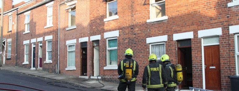Firefighters attend terraced house fire in Rotherham
