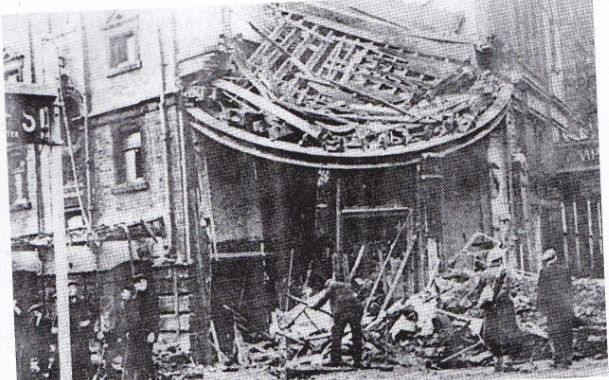 Empire Theatre following the bombing
